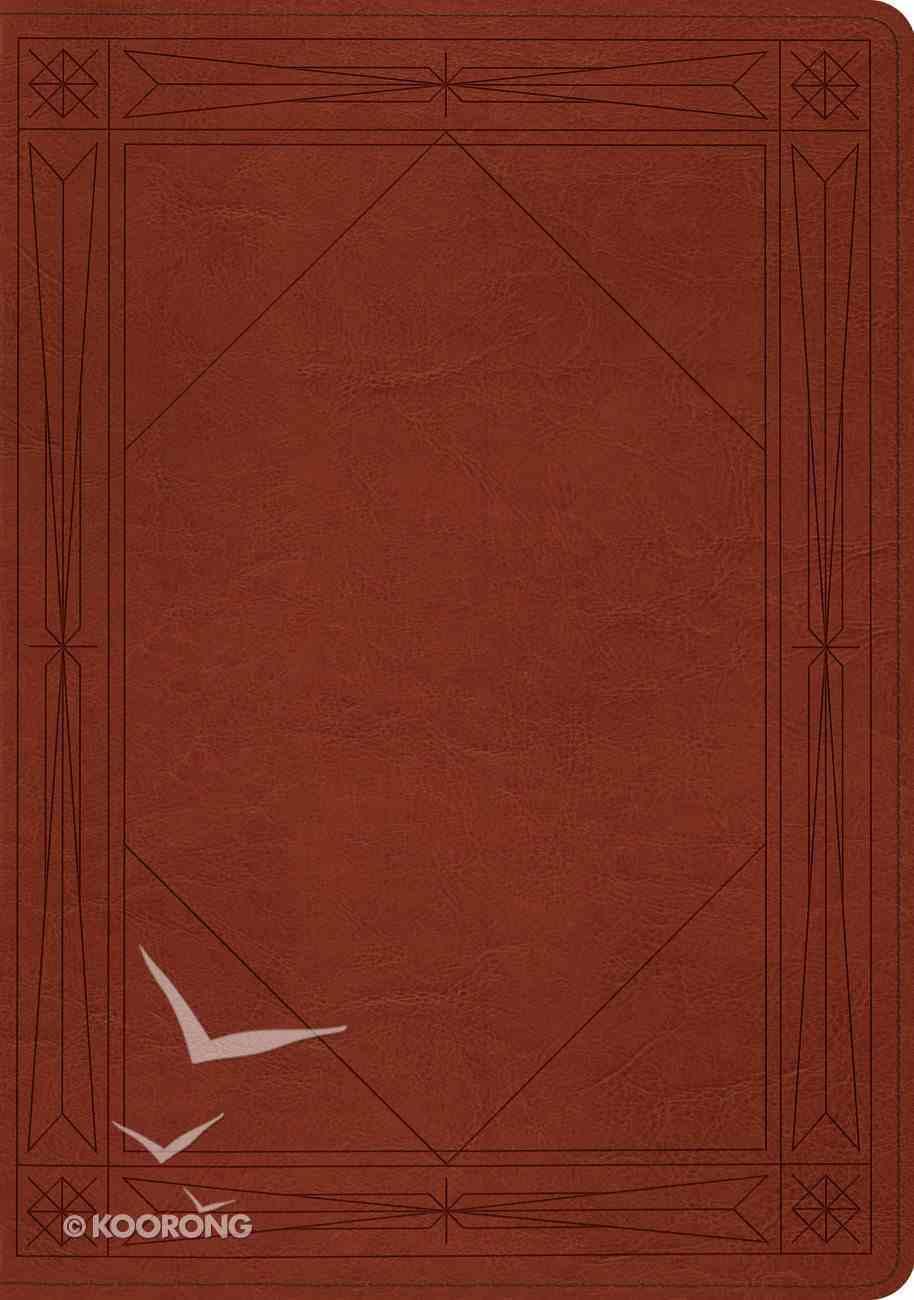 ESV Study Bible Tan Window Design Imitation Leather