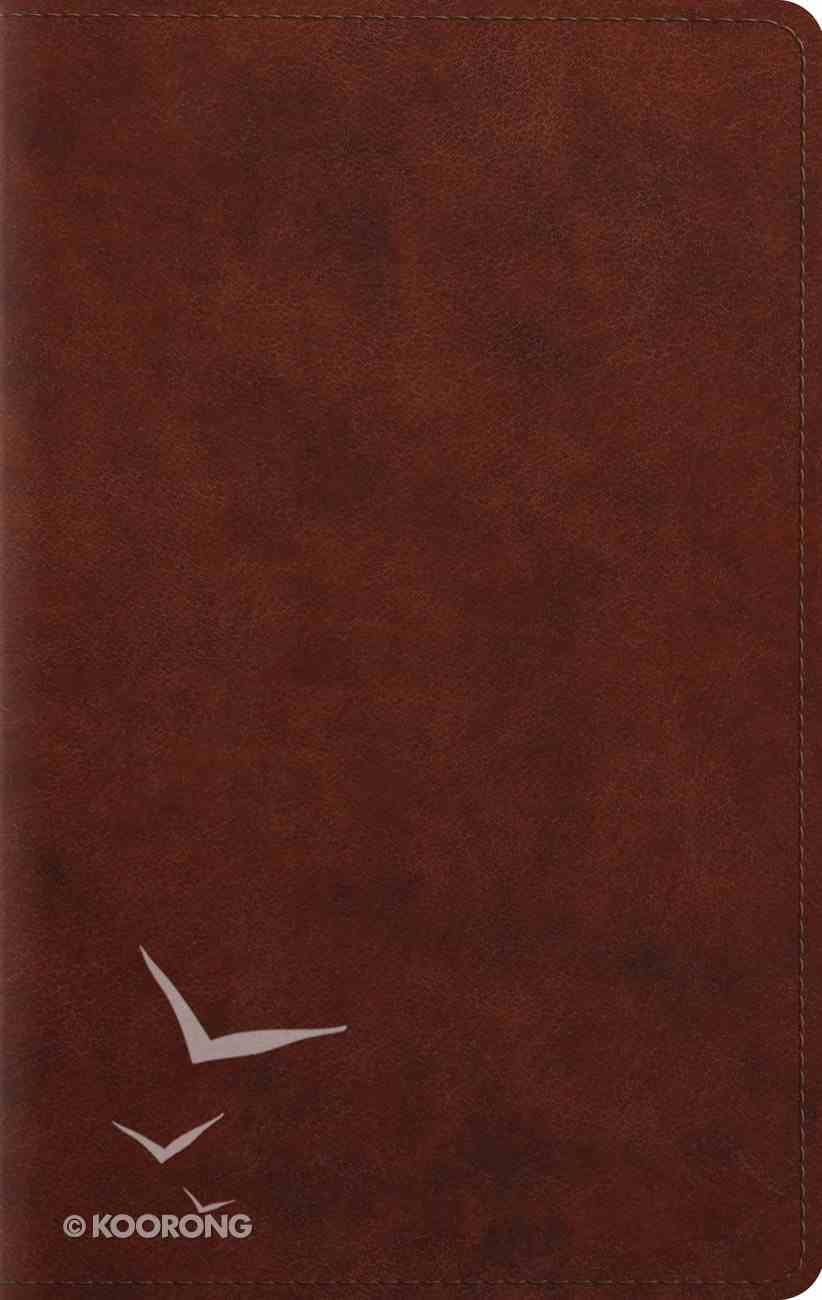 ESV Large Print Personal Size Bible Chestnut (Red Letter Edition) Imitation Leather