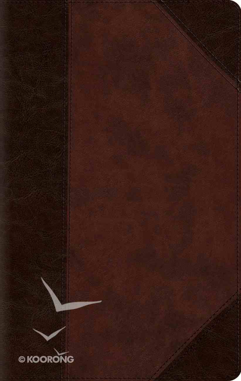 ESV Large Print Compact Bible Brown/Walnut Red Letter Edition Imitation Leather