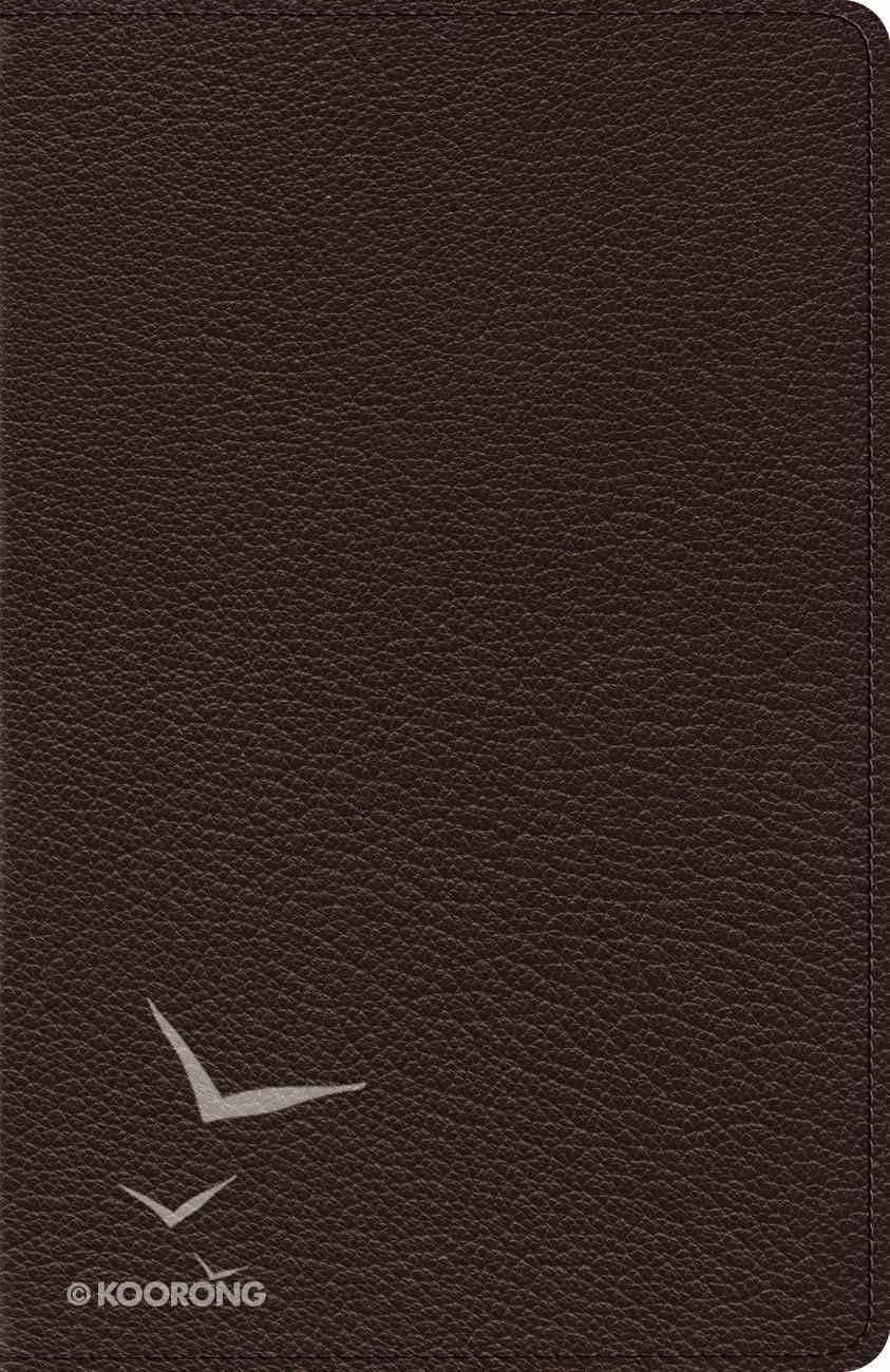 ESV Heirloom Thinline Bible Goatskin, Brown (Black Letter Edition) Genuine Leather