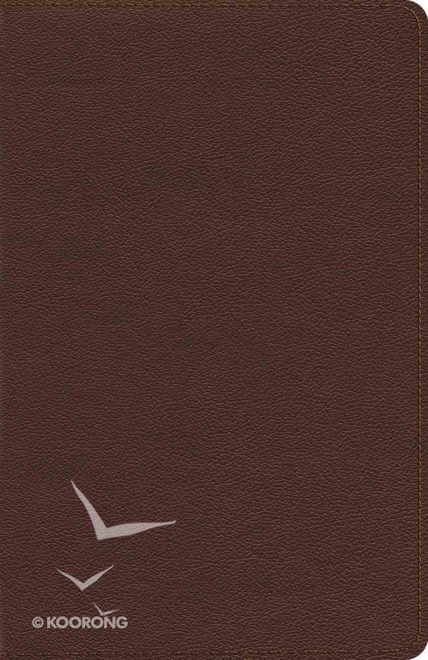 ESV Heirloom Thinline Bible Calfskin, Brown Genuine Leather