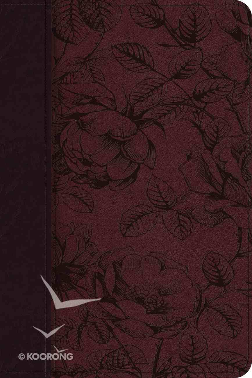 ESV Gospel Transformation Bible Trutone Burgundy Blossom Design Imitation Leather