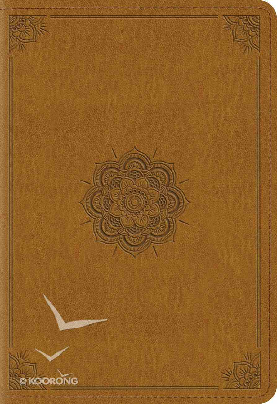 ESV Pocket New Testament With Psalms and Proverbs Trutone Goldenrod Emblem Design Imitation Leather