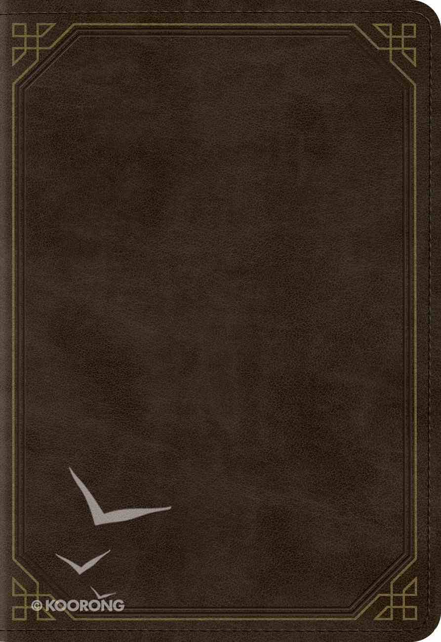 ESV Pocket New Testament With Psalms and Proverbs Trutone Olive Frame Design Imitation Leather