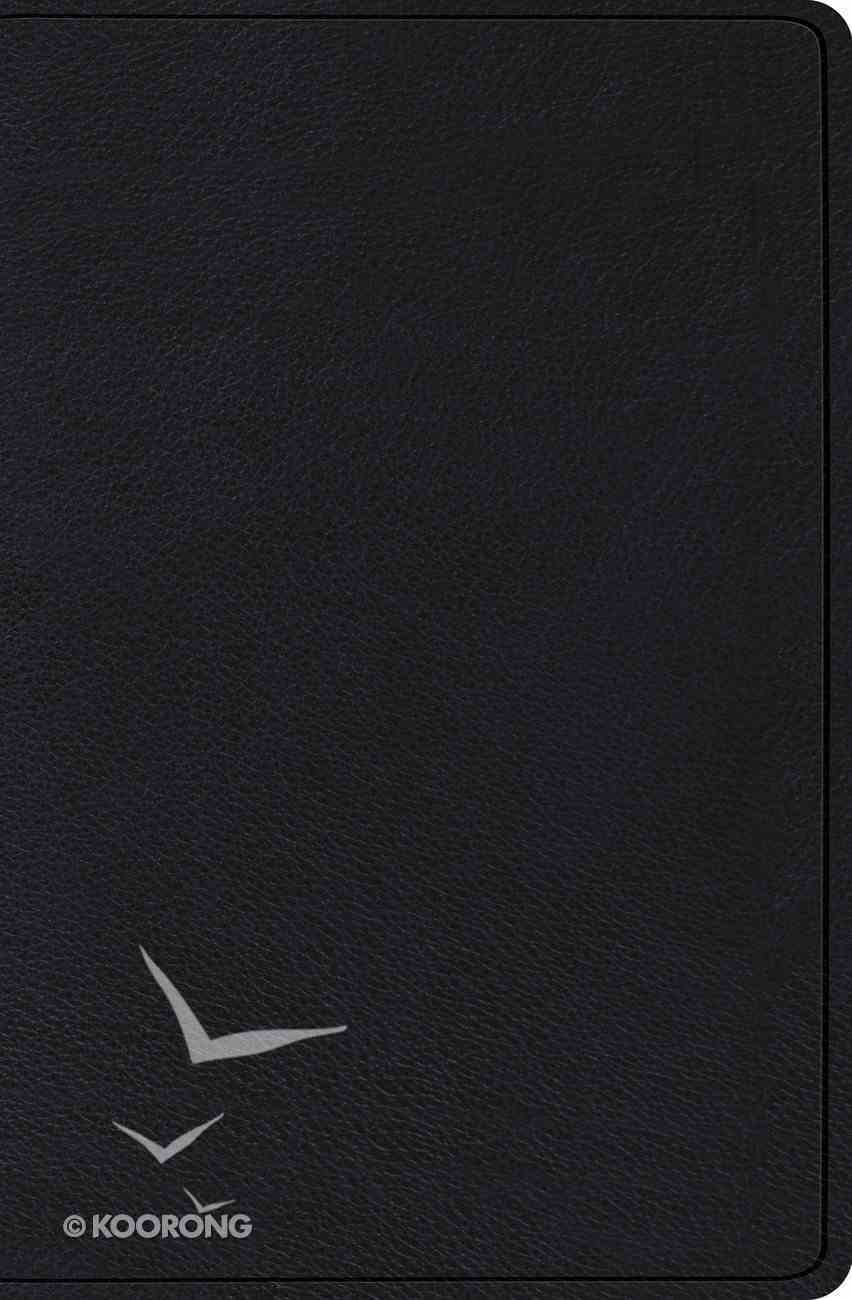 ESV Verse-By-Verse Reference Bible Black (Black Letter Edition) Genuine Leather