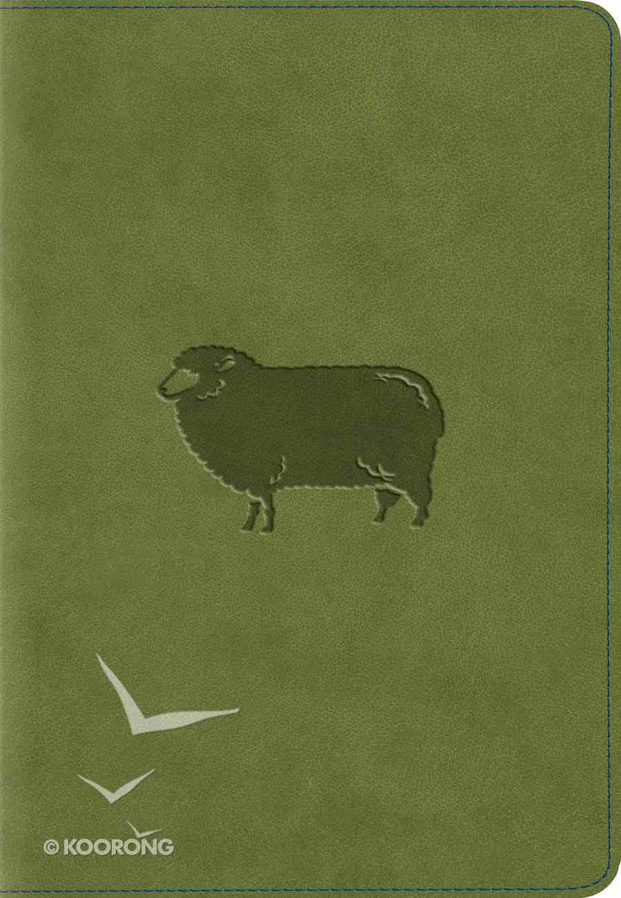 ESV Kid's Compact Bible Trutone Green Pastures Imitation Leather