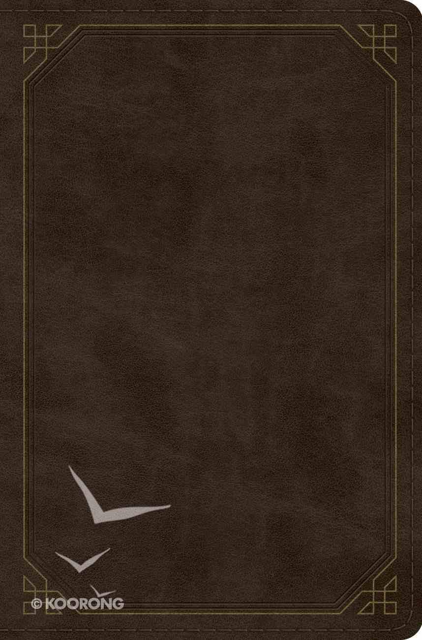 ESV Compact Bible Trutone, Olive, Frame Design Imitation Leather