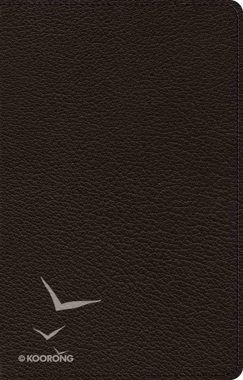 ESV Heirloom Large Print Thinline Reference Bible Goatskin Black (Black Letter Edition) Genuine Leather