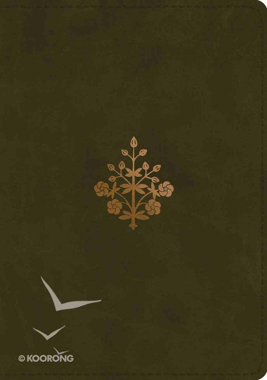 ESV Study Bible Trutone Olive Branch Design (Black Letter Edition) Imitation Leather