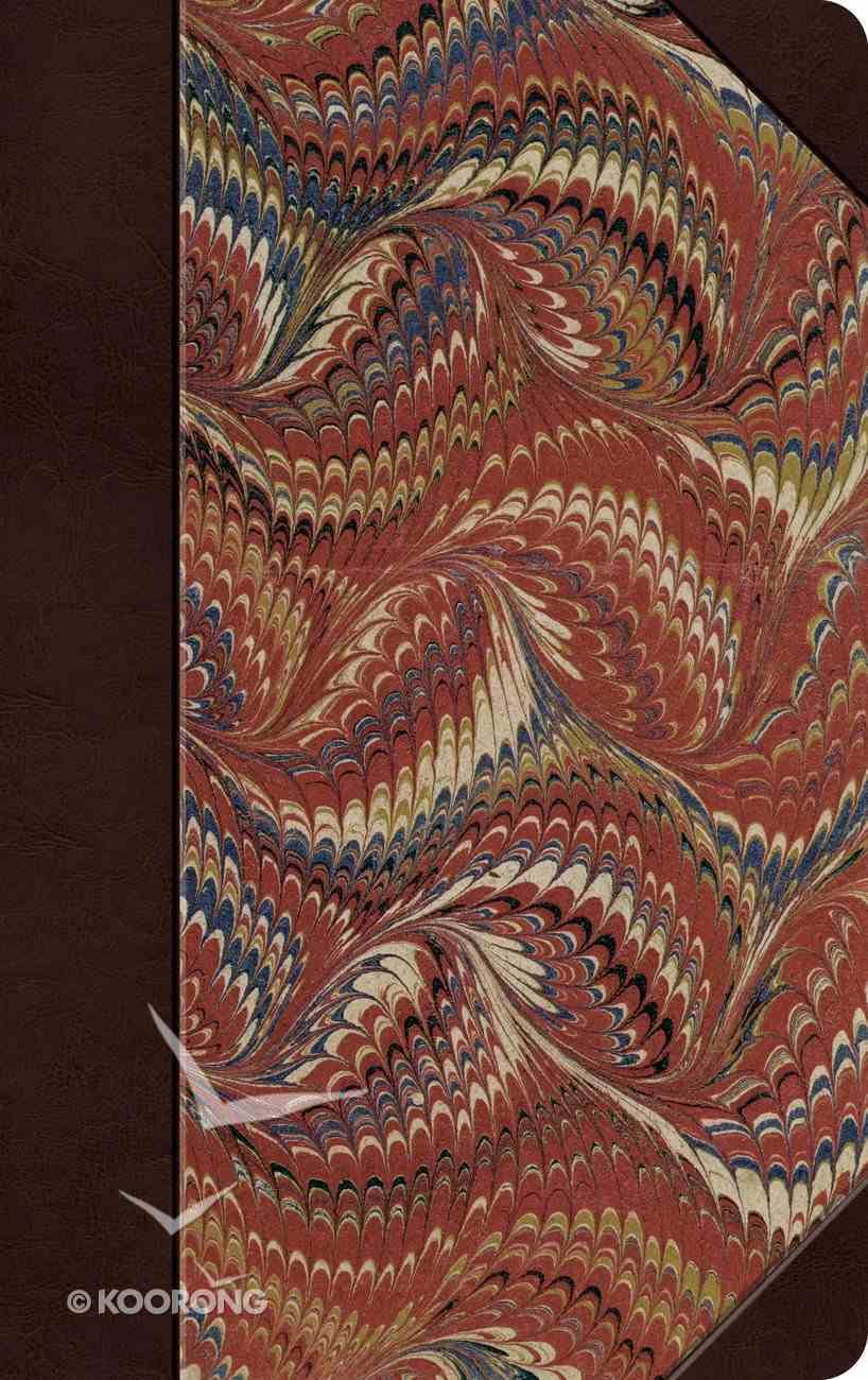 ESV Thinline Bible Classic Marbled Red Letter Edition Hardback