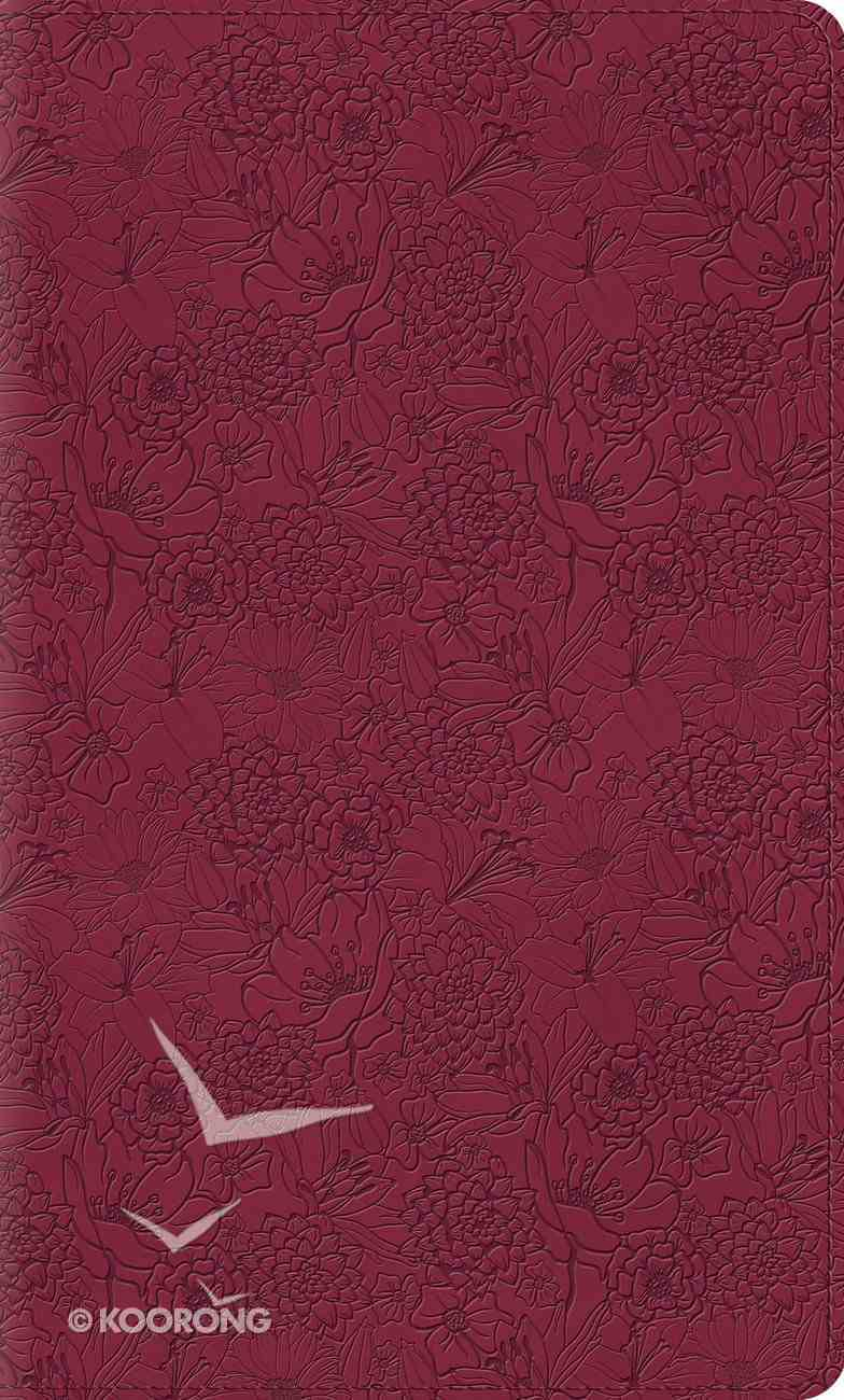 ESV Thinline Bible Trutone Pink Petals Red Letter Edition Imitation Leather