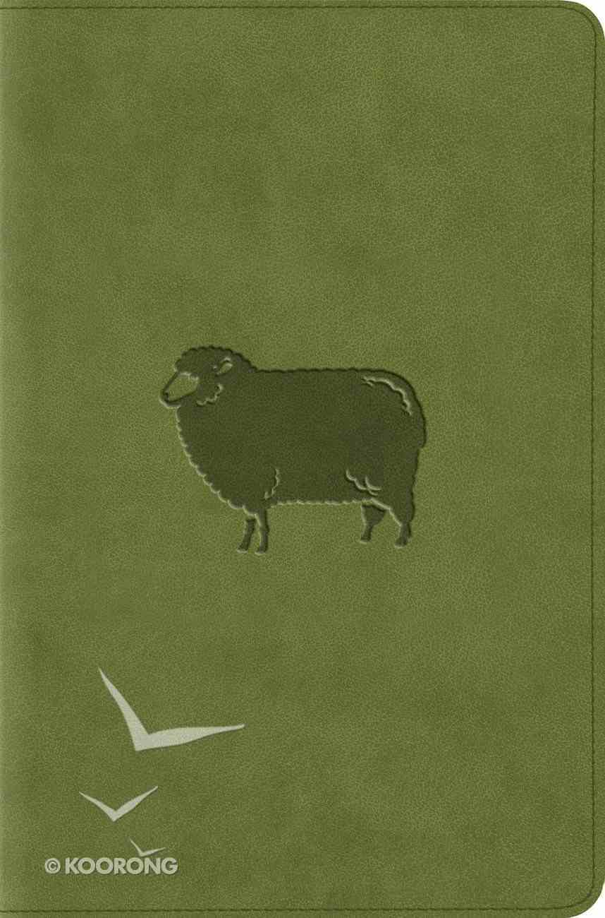 ESV Compact Bible Trutone Green Pastures Imitation Leather