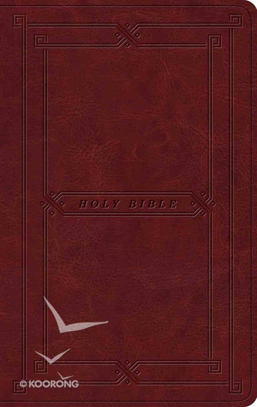 ESV Value Thinline Bible Trutone Cordovan Vintage Frame Design (Black Letter Edition) Imitation Leather
