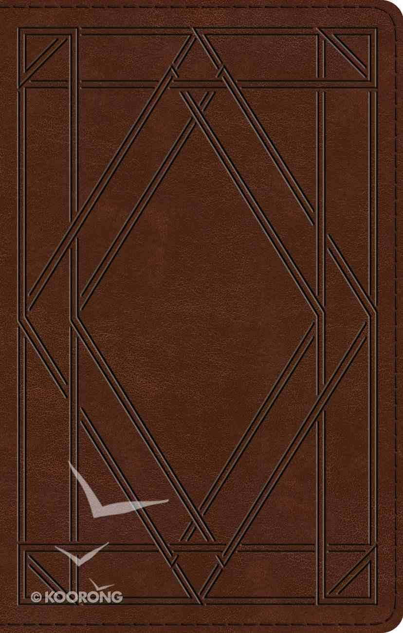 ESV Ultrathin Bible Trutone Chestnut Wood Panel Design (Black Letter Edition) Imitation Leather