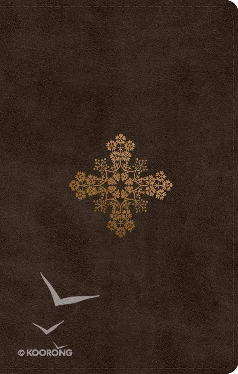 ESV Ultrathin Bible Trutone Olive Floral Cross Design (Black Letter Edition) Imitation Leather