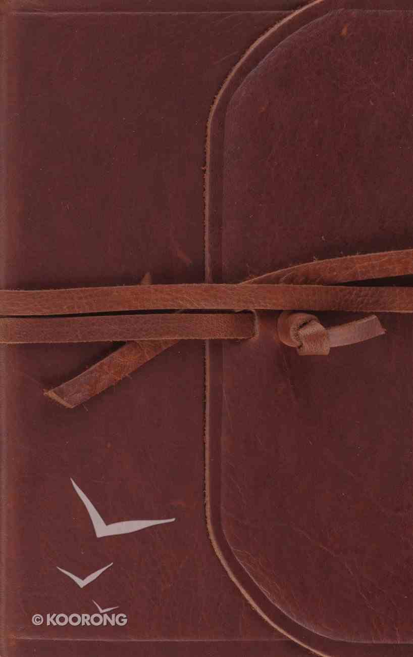 ESV Thinline Bible Flap With Strap (Red Letter Edition) Genuine Leather