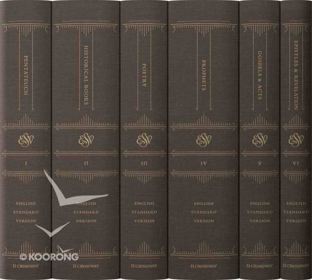 ESV Reader's Bible Black Letter Edition (6 Vol Set) Fabric Over Hardback