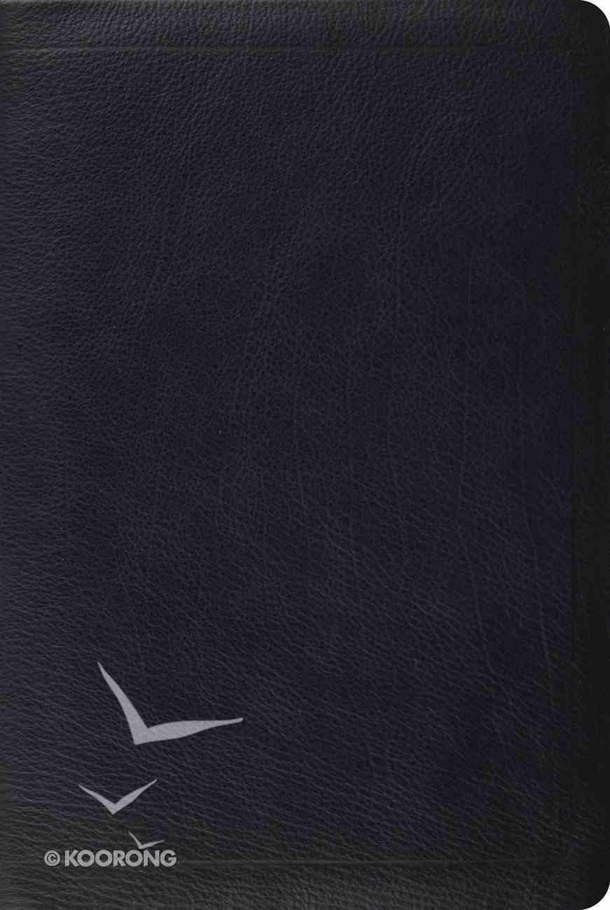 ESV Single Column Personal Size Bible Calfskin Black Genuine Leather