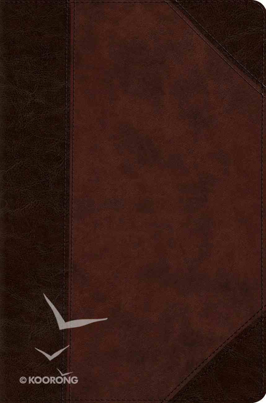ESV Compact Bible Trutone Brown/Walnut Portfolio Design (Black Letter Edition) Imitation Leather