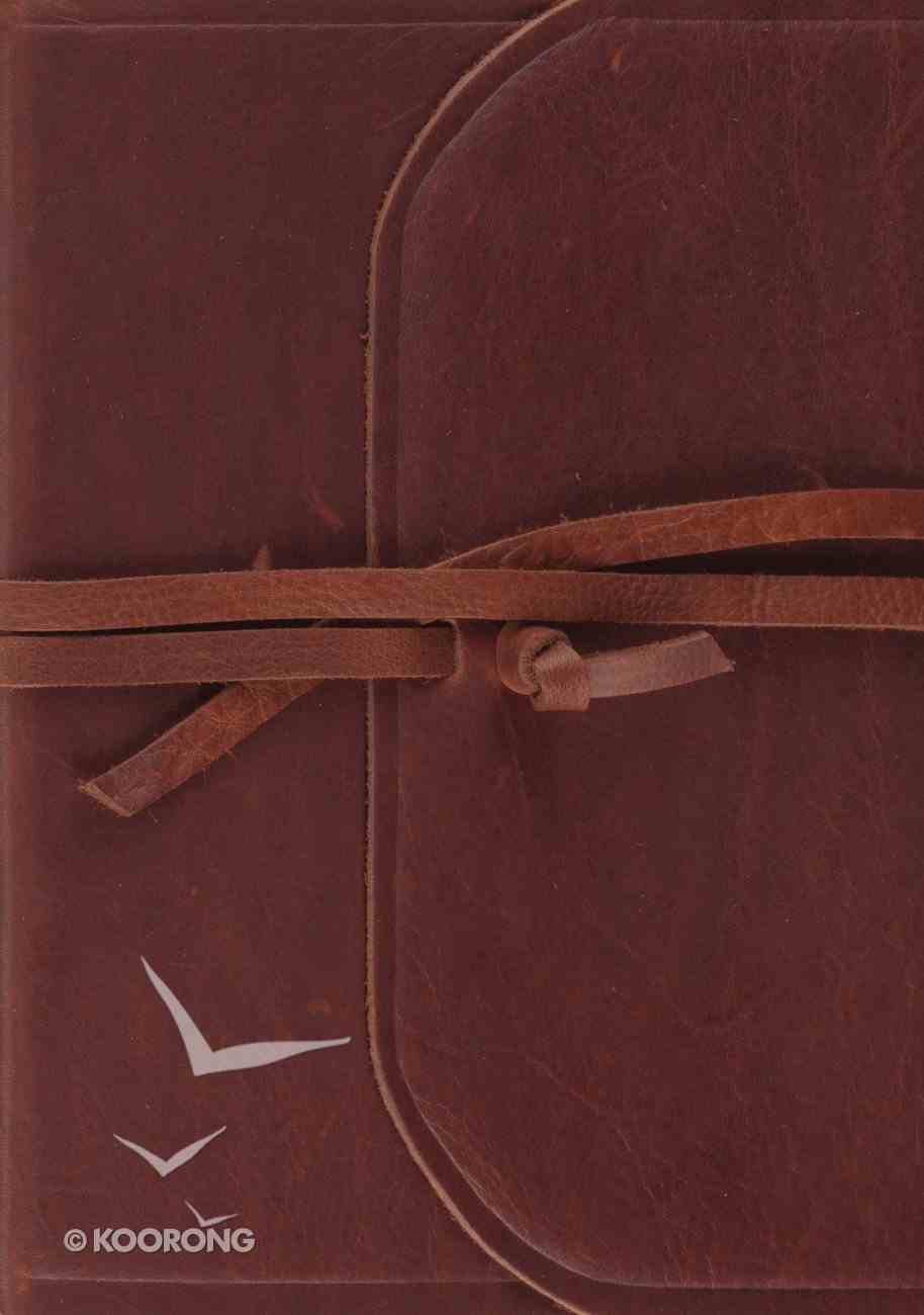 ESV Study Bible Flap With Strap Brown (Black Letter Edition) Genuine Leather