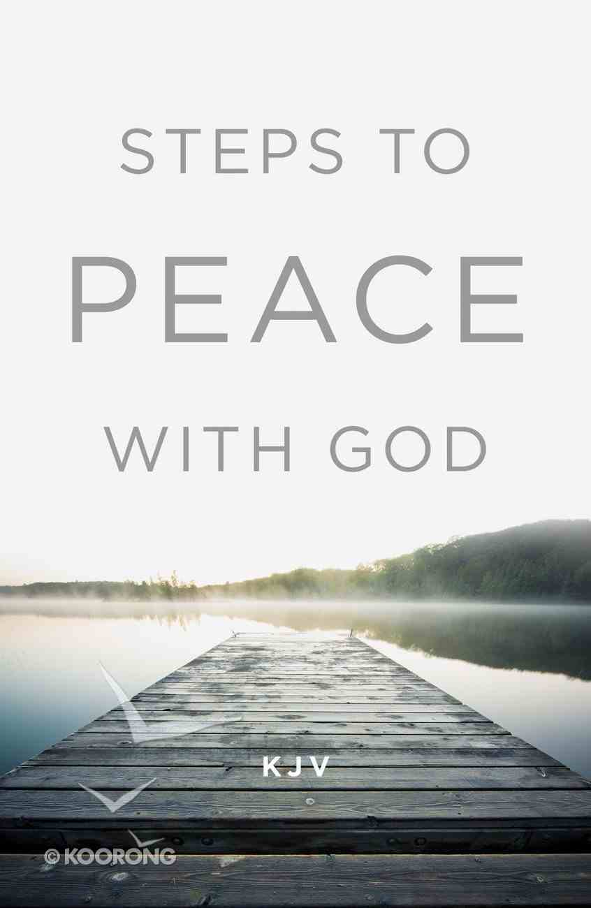 Steps to Peace With God (KJV) (Pack Of 25) Booklet