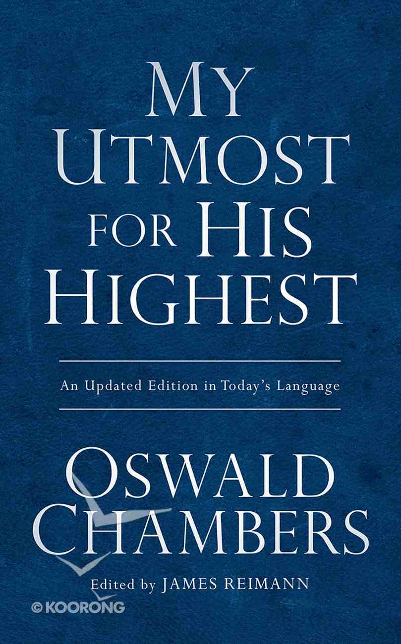 My Utmost For His Highest Value Edition (Box 24) Paperback