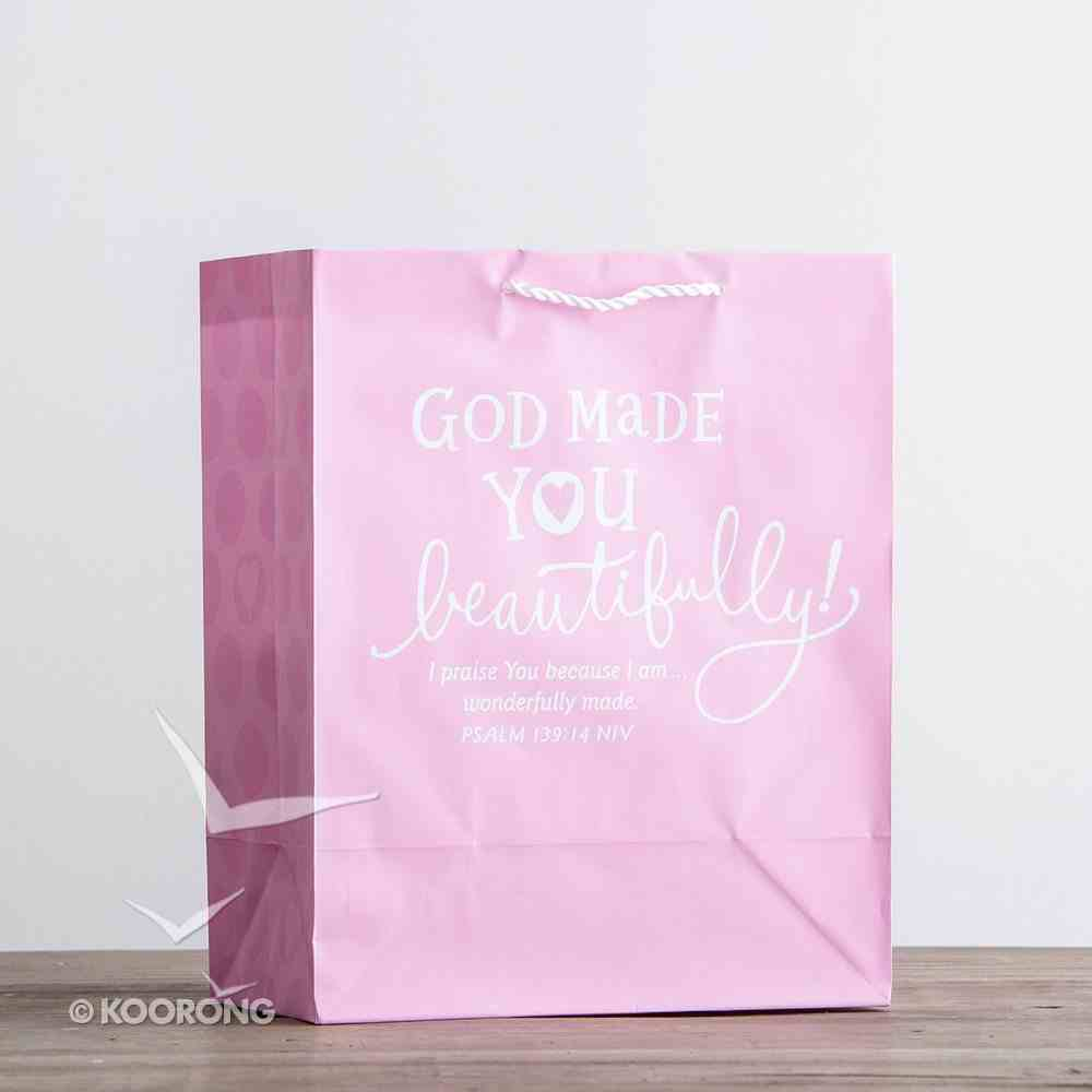 Value Gift Bag Large: Light Baby Pink (Psalm 139:14 Niv) Stationery