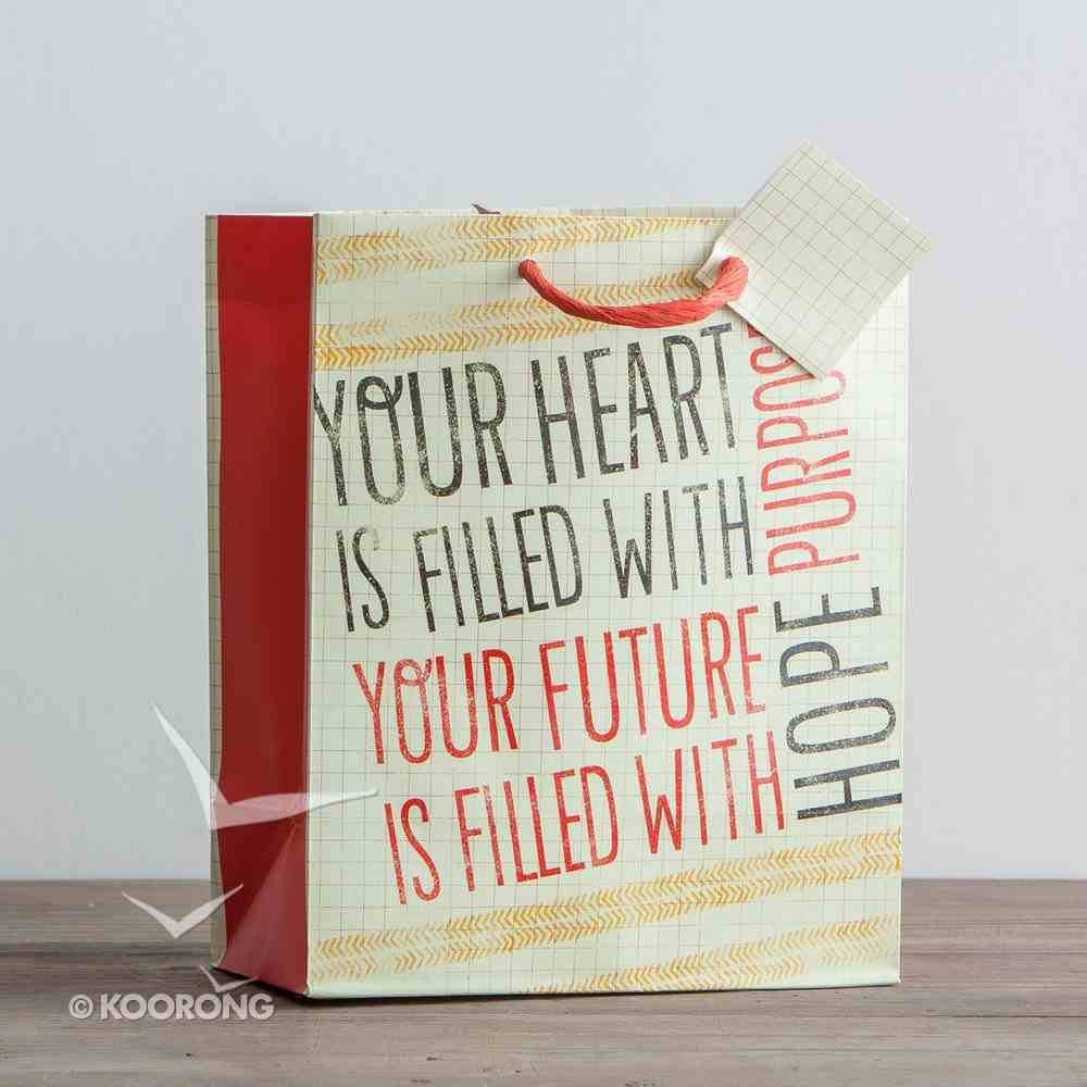 Gift Wrap Medium: Purpose and Hope (Incl Tissue Paper & Gift Tag) Stationery