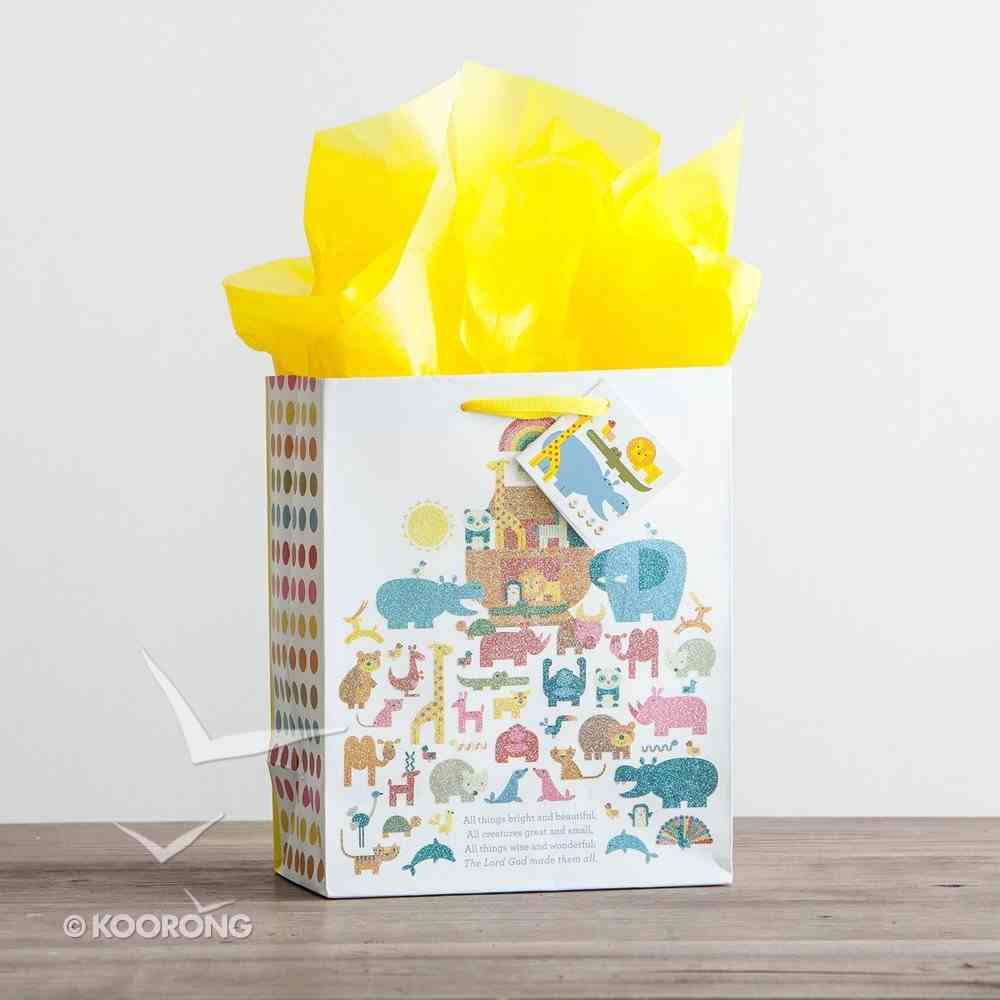 Gift Bag Medium: Noah's Ark (Incl Tissue Paper & Gift Tag) Stationery
