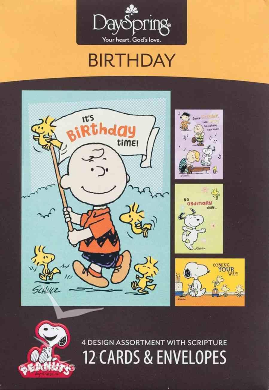 Boxed Cards Birthday: Peanuts Box