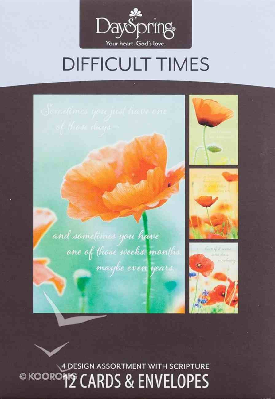Boxed Cards Difficult Times: Strong Box