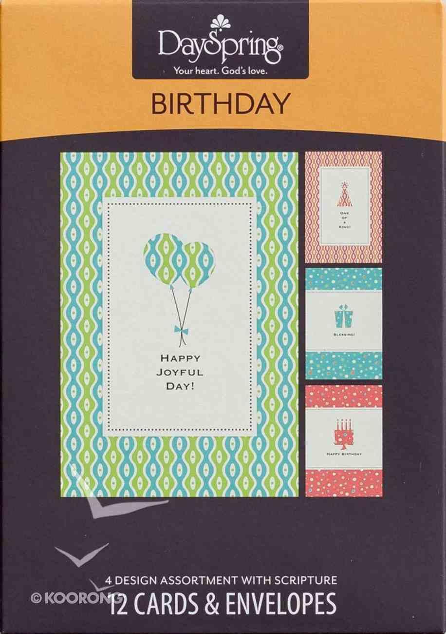 Boxed Cards Birthday: Happy Joyful Day Box