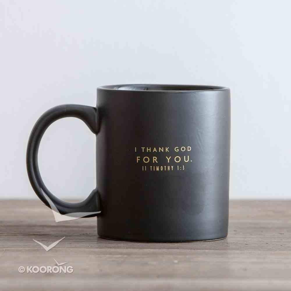 Ceramic Mug: Trophy Dad (2 Tim 1:8 NLT) (Black/yellow) Homeware