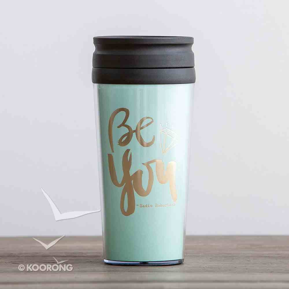 Travel Mug: Be You (Colossians 1:27) (Pale Blue/Gold) (Sadie Robertson Gift Products Series) Homeware