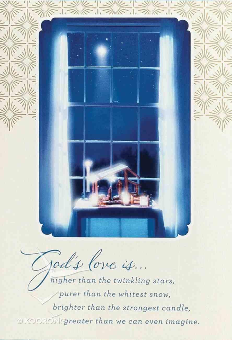 Christmas Boxed Cards: God's Love (Eph 3:18 Niv) Box