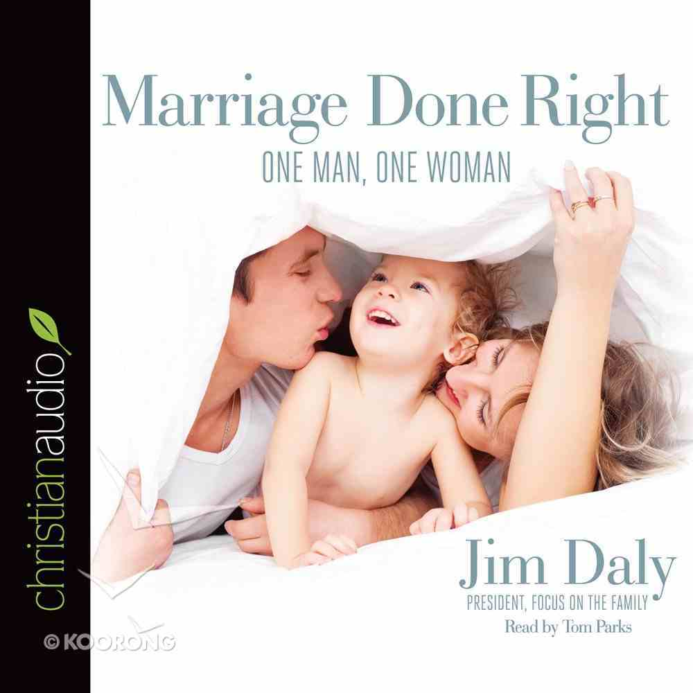 Marriage Done Right (Unabridged, 5 Cds) CD