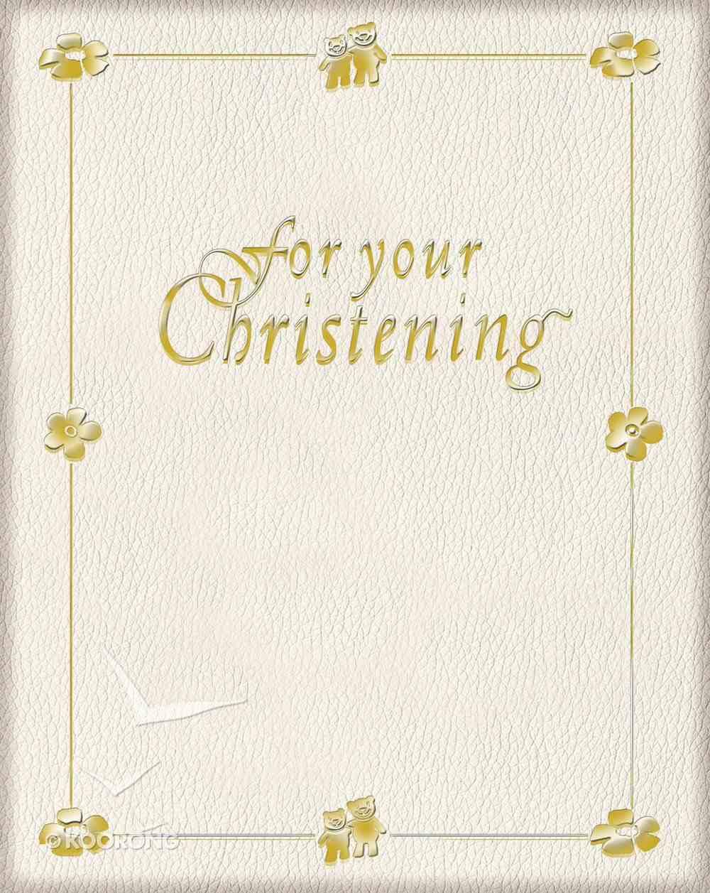 For Your Christening Hardback