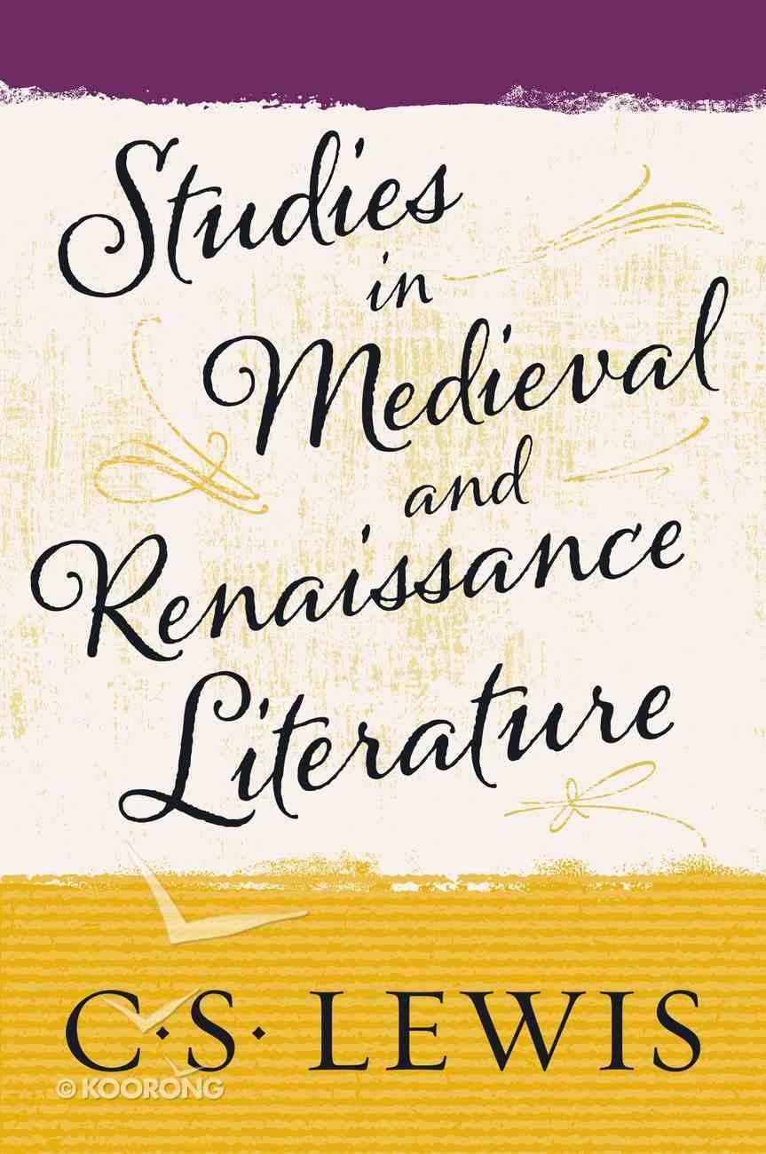 Studies in Medieval and Renaissance Literature eBook