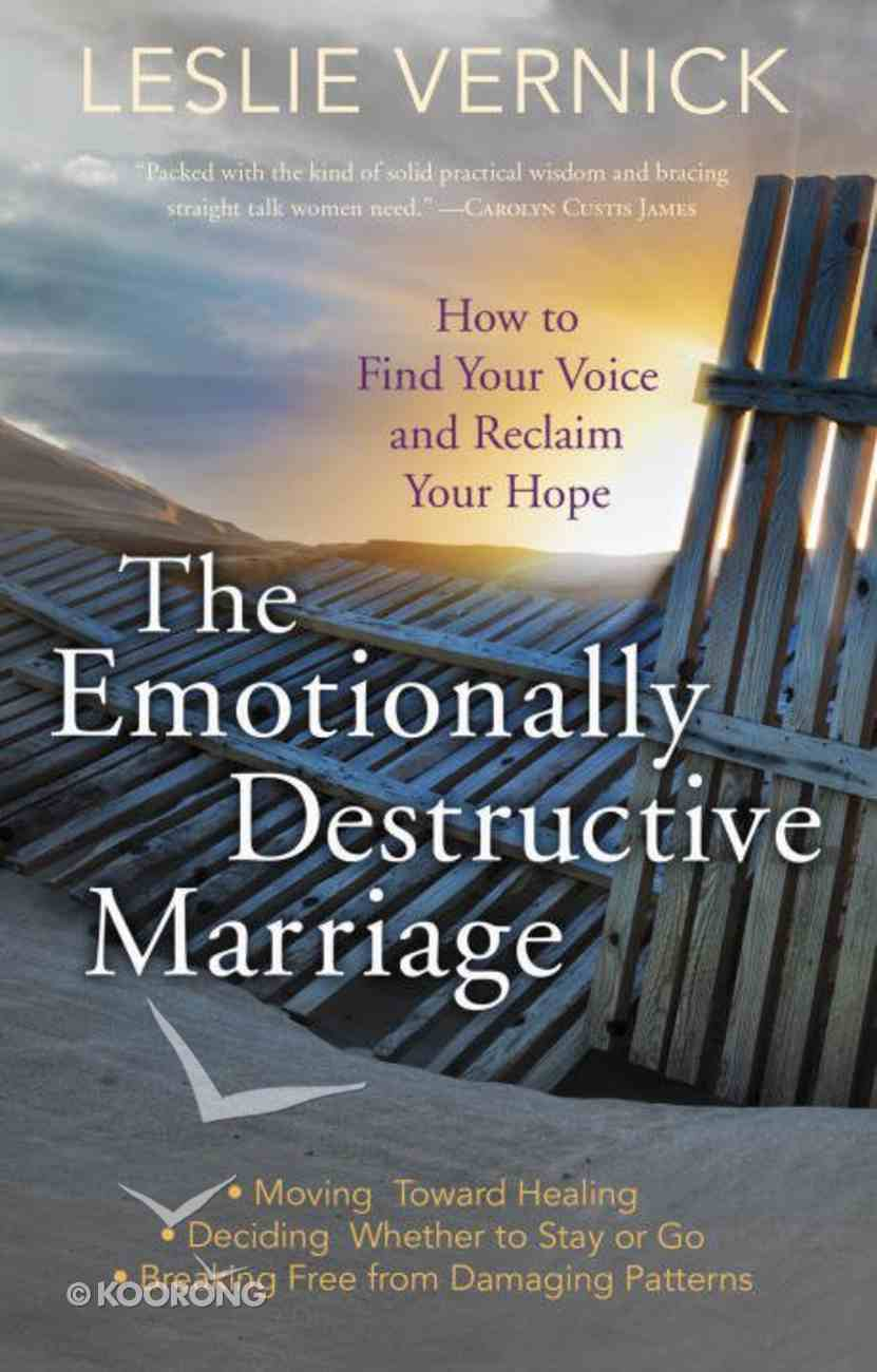 The Emotionally Destructive Marriage eBook