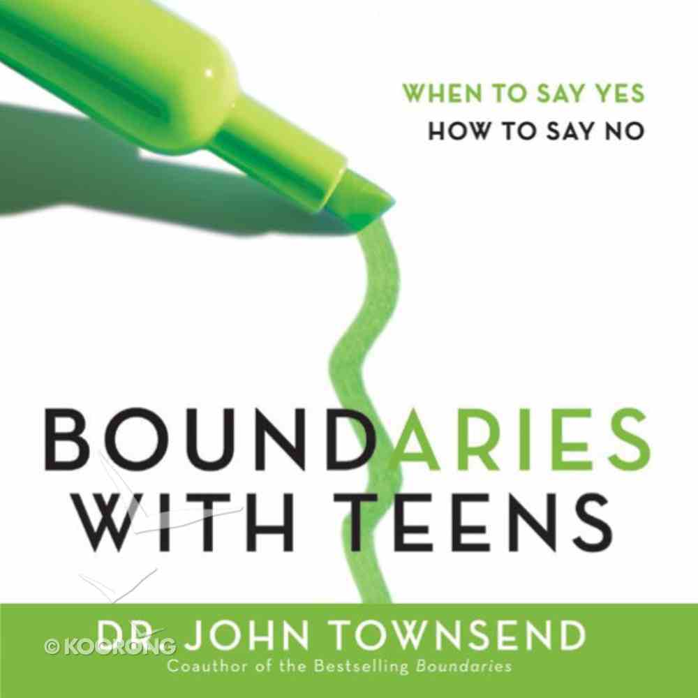 Boundaries With Teens eAudio Book