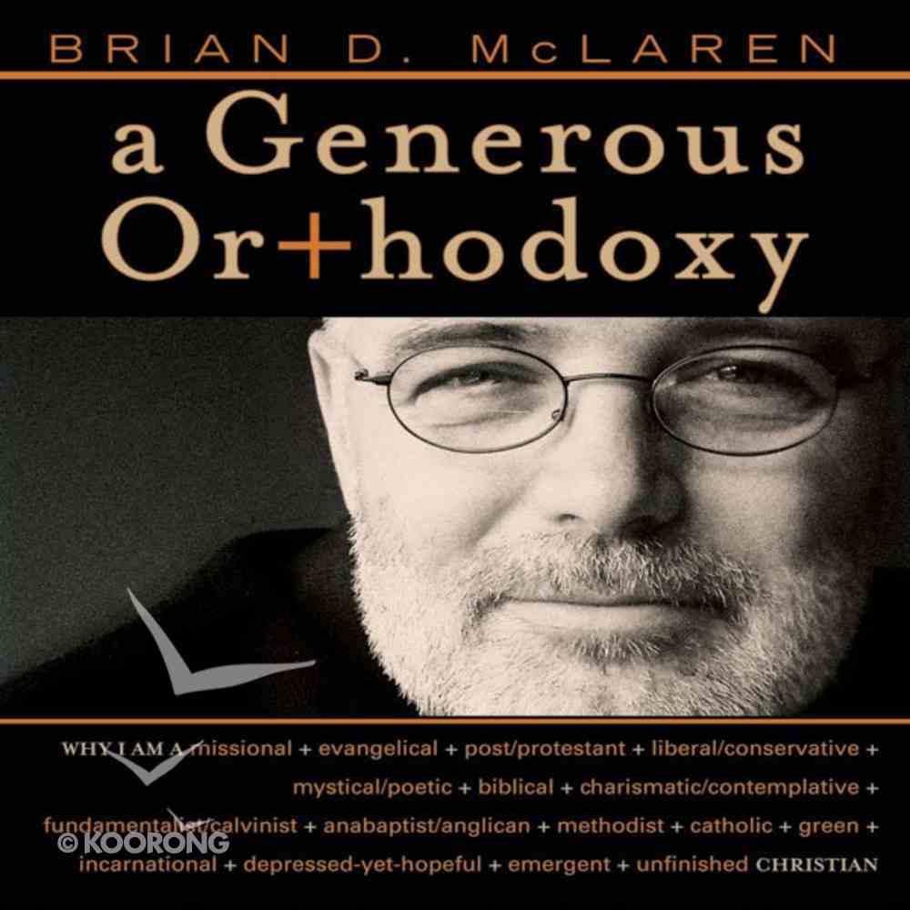 A Generous Orthodoxy eAudio Book