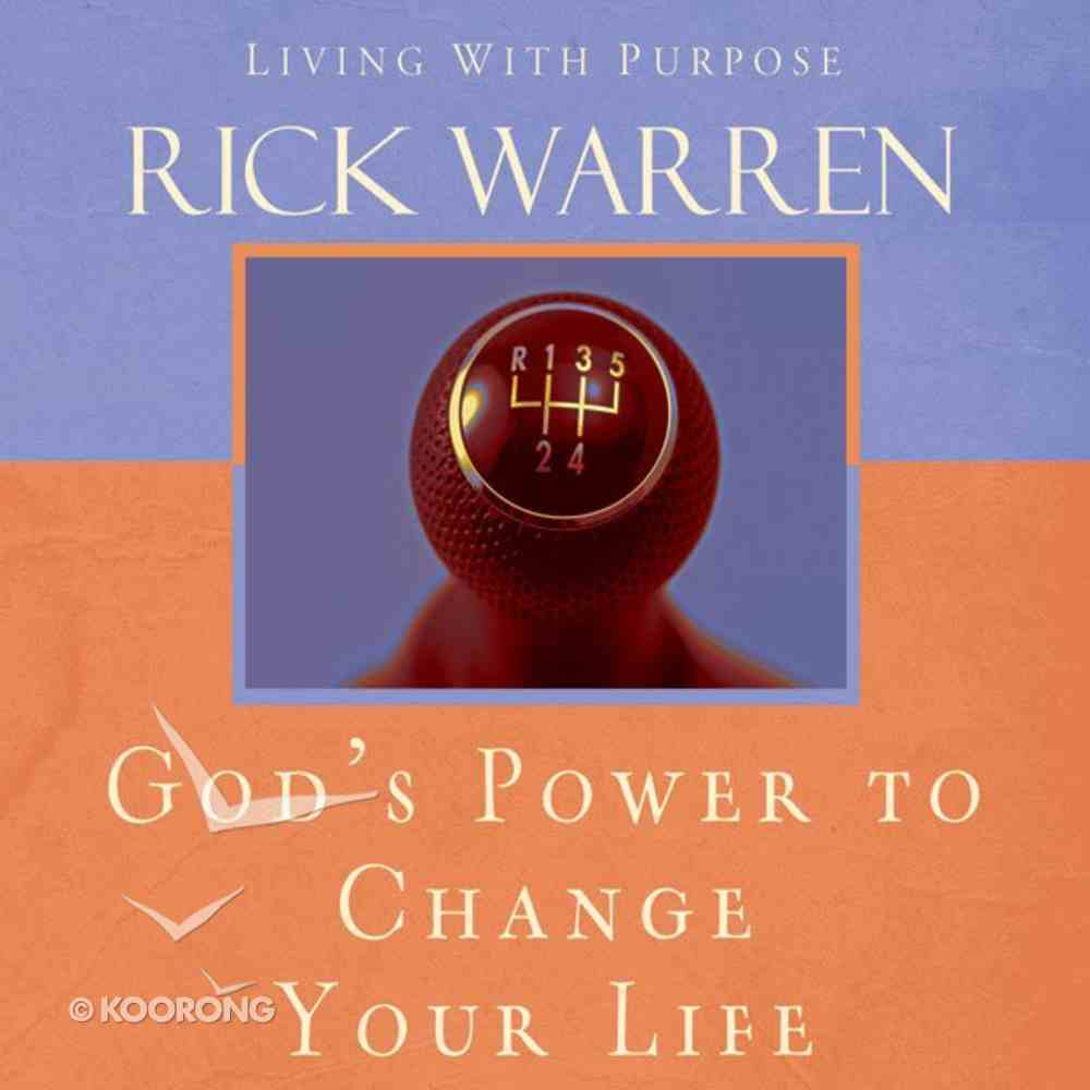 God's Power to Change Your Life (Living With Purpose Series) eAudio Book