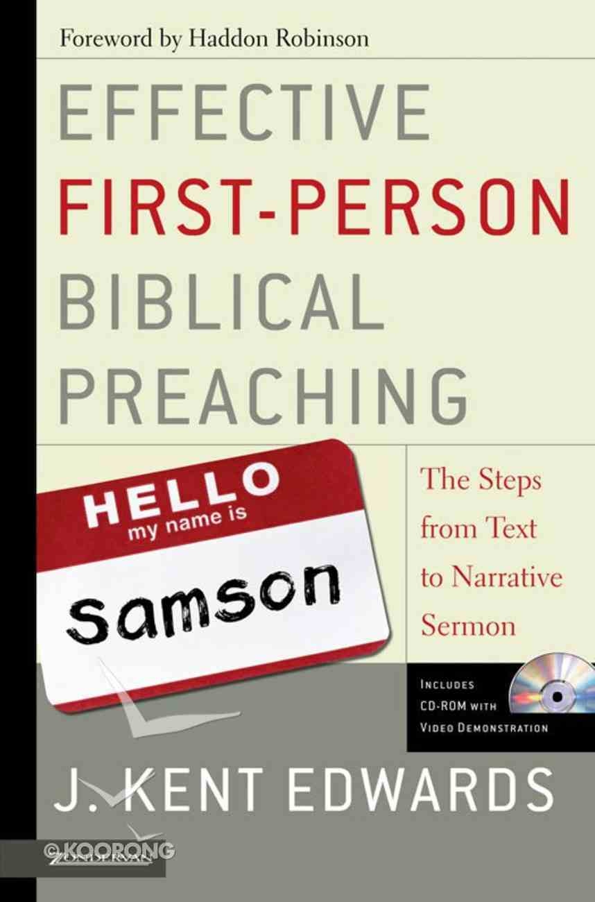 Effective First-Person Biblical Preaching eBook