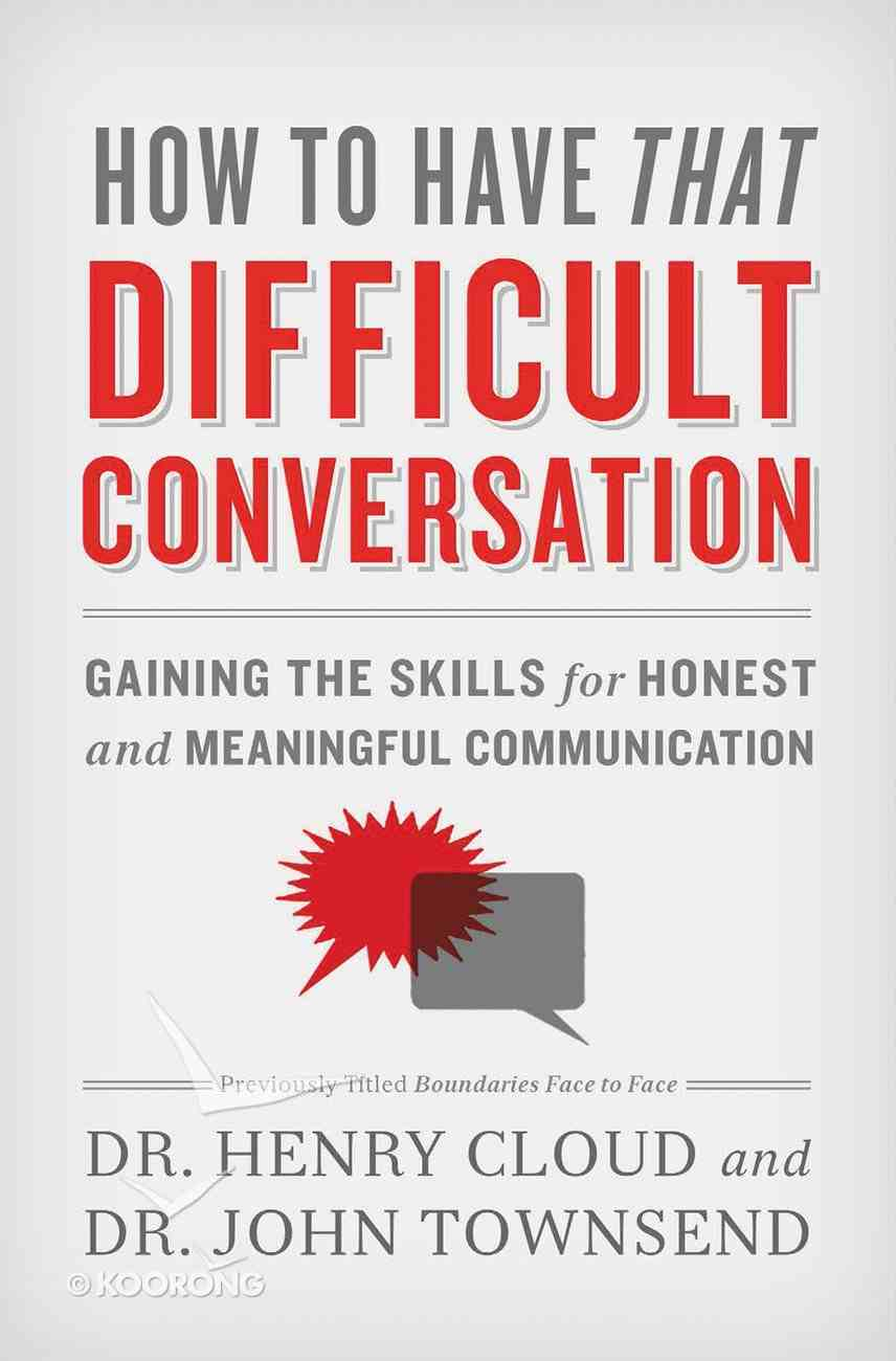 How to Have That Difficult Conversation eBook
