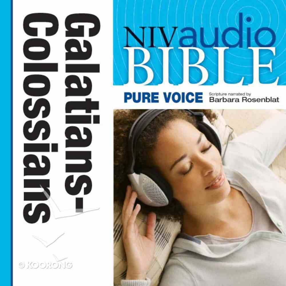 NIV, Audio Bible, Pure Voice: Galatians, Ephesians, Philippians, and Colossians, Audio eAudio Book