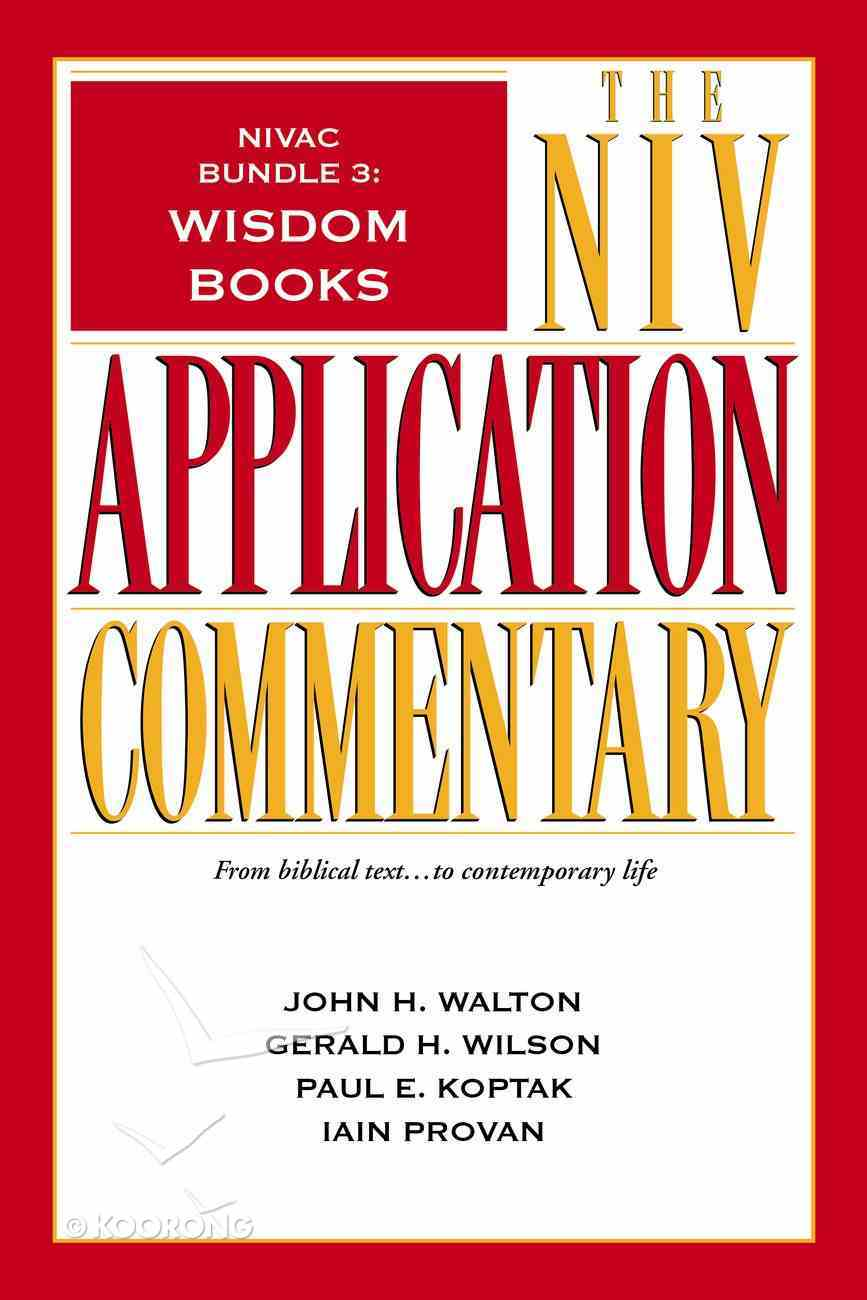 Wisdom Books (#3 in Niv Application Commentary Series) eBook