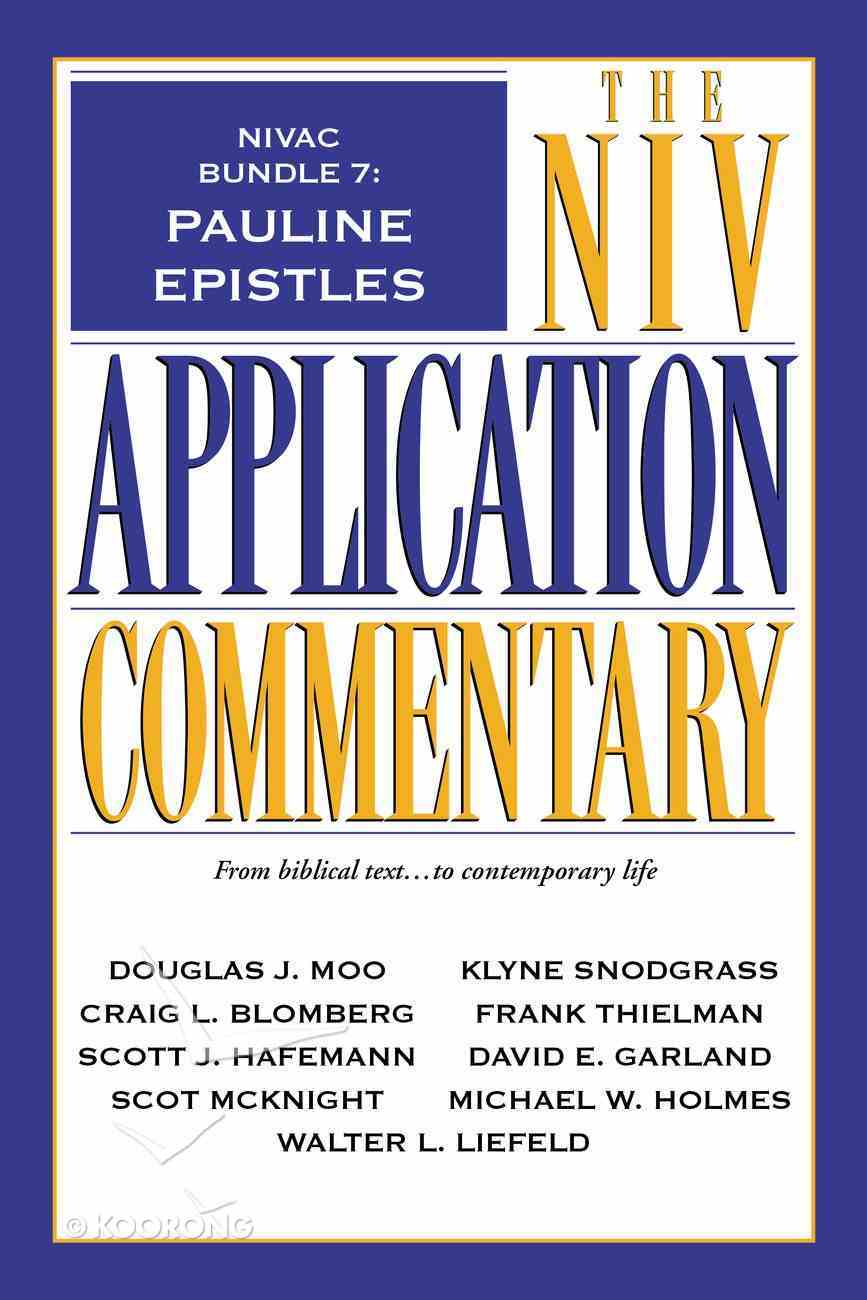 Pauline Epistles (#7 in Niv Application Commentary Series) eBook