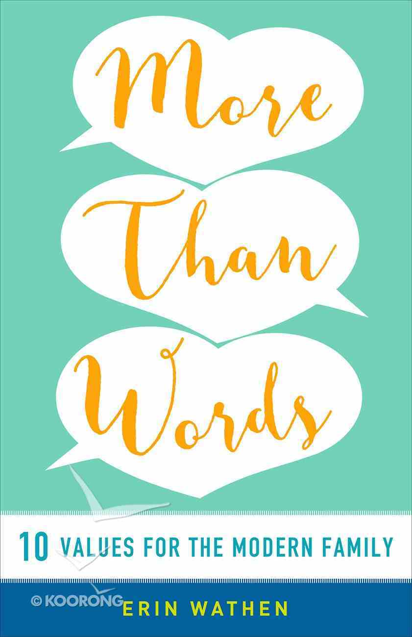 More Than Words Paperback