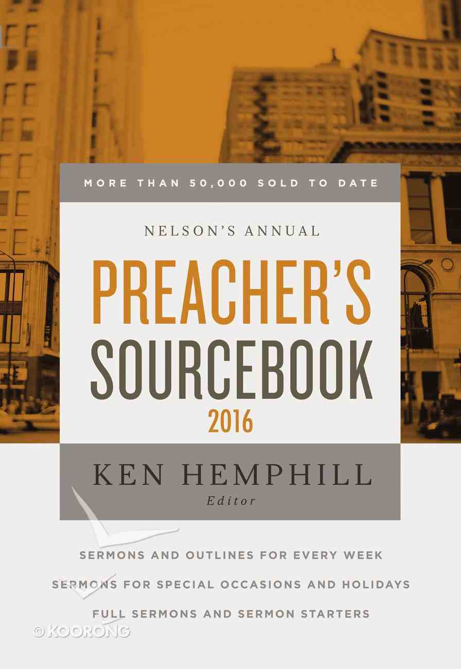 Nelson's Annual Preacher's Sourcebook 2016 eBook