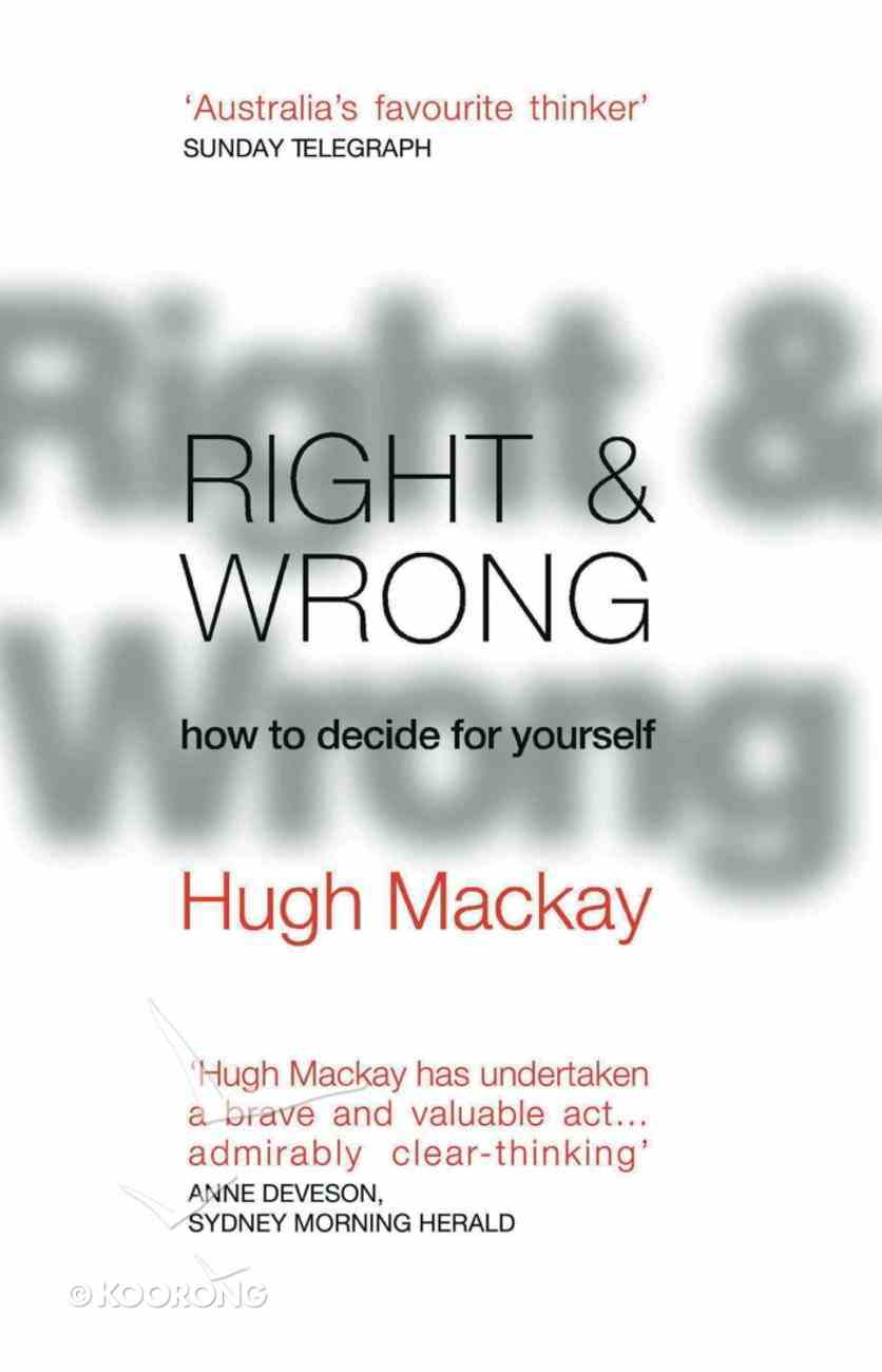 Right & Wrong eBook